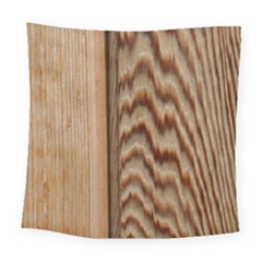 Wood Grain Texture Brown Square Tapestry (large)