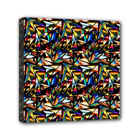 Abstract Pattern Design Artwork Mini Canvas 6  X 6