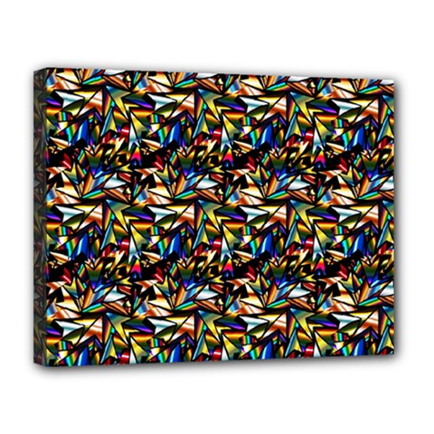 Abstract Pattern Design Artwork Canvas 14  x 11