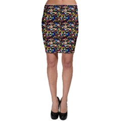 Abstract Pattern Design Artwork Bodycon Skirt