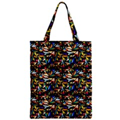 Abstract Pattern Design Artwork Zipper Classic Tote Bag
