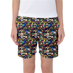 Abstract Pattern Design Artwork Women s Basketball Shorts