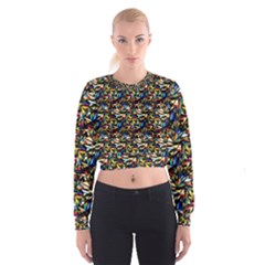 Abstract Pattern Design Artwork Women s Cropped Sweatshirt