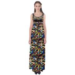 Abstract Pattern Design Artwork Empire Waist Maxi Dress