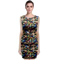 Abstract Pattern Design Artwork Classic Sleeveless Midi Dress