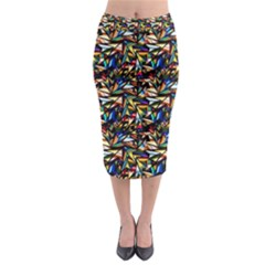 Abstract Pattern Design Artwork Midi Pencil Skirt