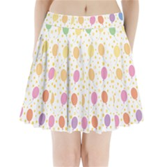 Balloon Star Color Orange Pink Red Yelllow Blue Pleated Mini Skirt