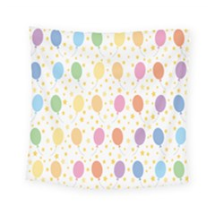 Balloon Star Color Orange Pink Red Yelllow Blue Square Tapestry (small)