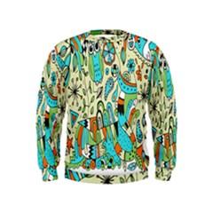 Animals Caterpillar Worm Owl Snake Leaf Flower Floral Kids  Sweatshirt
