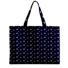 Blue Star Zipper Mini Tote Bag