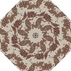 Camouflage Army Disguise Grey Brown Hook Handle Umbrellas (Large)