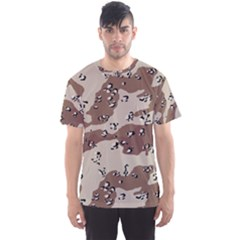 Camouflage Army Disguise Grey Brown Men s Sport Mesh Tee
