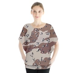 Camouflage Army Disguise Grey Brown Blouse