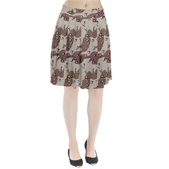 Camouflage Army Disguise Grey Brown Pleated Skirt