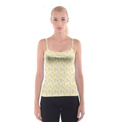 Branch Spring Texture Leaf Fruit Yellow Spaghetti Strap Top