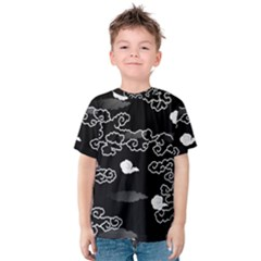 Cloud Black Night Kids  Cotton Tee
