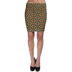 Caleidoskope Star Glass Flower Floral Color Gold Bodycon Skirt