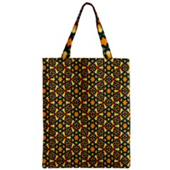 Caleidoskope Star Glass Flower Floral Color Gold Zipper Classic Tote Bag