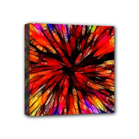 Color Batik Explosion Colorful Mini Canvas 4  X 4