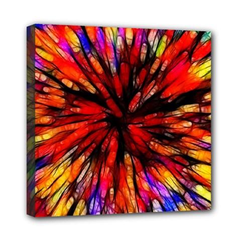 Color Batik Explosion Colorful Mini Canvas 8  X 8