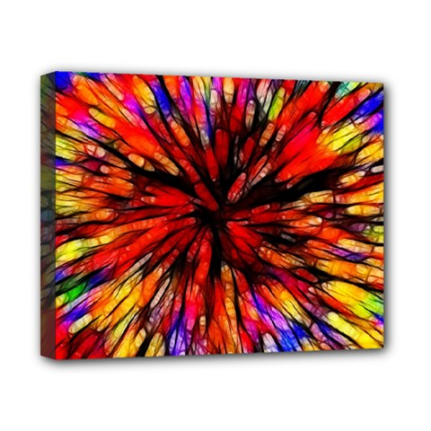 Color Batik Explosion Colorful Canvas 10  X 8