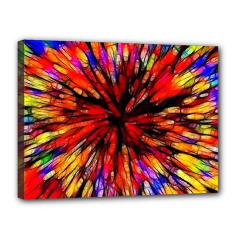 Color Batik Explosion Colorful Canvas 16  X 12