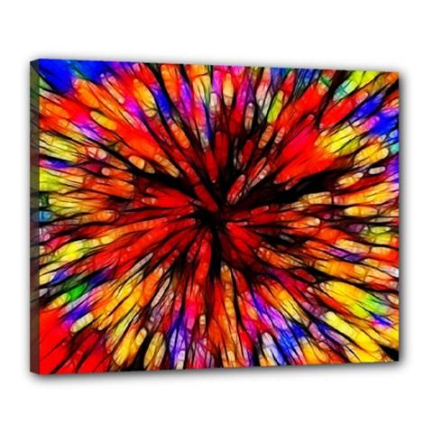 Color Batik Explosion Colorful Canvas 20  X 16