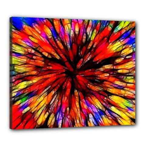 Color Batik Explosion Colorful Canvas 24  X 20