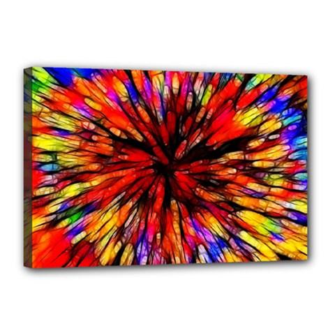 Color Batik Explosion Colorful Canvas 18  X 12