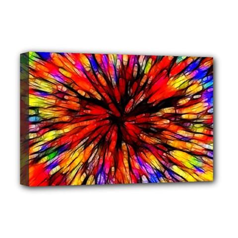 Color Batik Explosion Colorful Deluxe Canvas 18  X 12