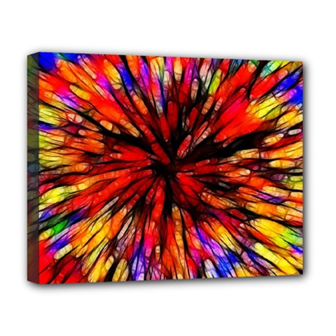 Color Batik Explosion Colorful Deluxe Canvas 20  X 16
