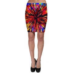 Color Batik Explosion Colorful Bodycon Skirt