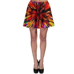 Color Batik Explosion Colorful Skater Skirt