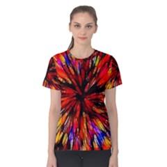 Color Batik Explosion Colorful Women s Cotton Tee