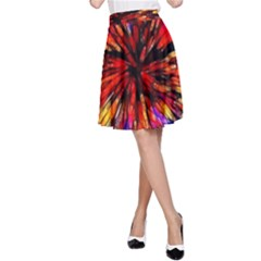 Color Batik Explosion Colorful A Line Skirt