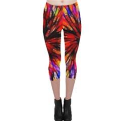 Color Batik Explosion Colorful Capri Leggings