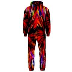 Color Batik Explosion Colorful Hooded Jumpsuit (men)