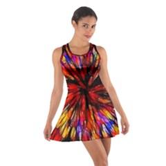 Color Batik Explosion Colorful Cotton Racerback Dress