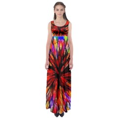 Color Batik Explosion Colorful Empire Waist Maxi Dress