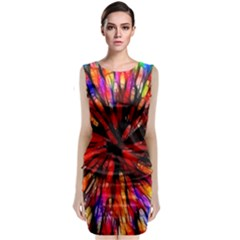 Color Batik Explosion Colorful Classic Sleeveless Midi Dress
