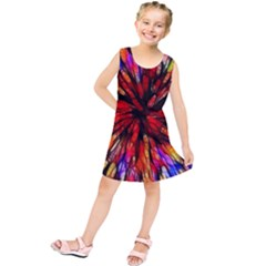 Color Batik Explosion Colorful Kids  Tunic Dress