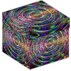 Wave Line Colorful Brush Particles Storage Stool 12