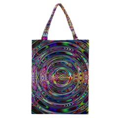 Wave Line Colorful Brush Particles Classic Tote Bag