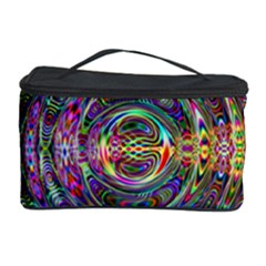 Wave Line Colorful Brush Particles Cosmetic Storage Case