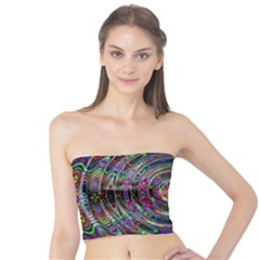 Wave Line Colorful Brush Particles Tube Top