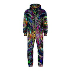 Wave Line Colorful Brush Particles Hooded Jumpsuit (kids)
