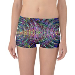 Wave Line Colorful Brush Particles Boyleg Bikini Bottoms