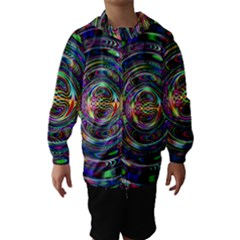 Wave Line Colorful Brush Particles Hooded Wind Breaker (kids)