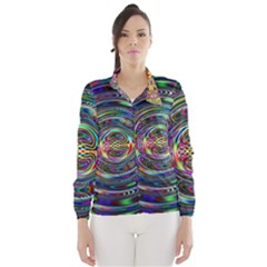 Wave Line Colorful Brush Particles Wind Breaker (women)
