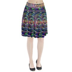 Wave Line Colorful Brush Particles Pleated Skirt